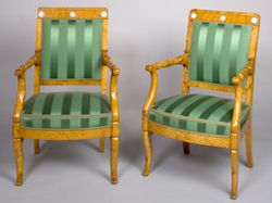 1246 - Suite of Four, French, Charles X Period Fauteuils Stamped, J.J. WERNER