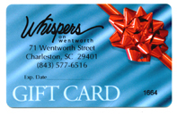 Whispers on Wentworth has a great solution: a gift card that can be purchased in any denomination.