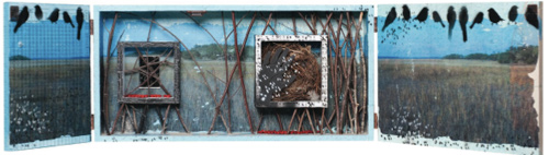 Plum Elements is pleased to present Wish, a mixed media assemblage and collage by Tina Hirsig