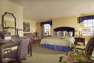 A Mills House Hotel luxurious room in historic downtown Charleston