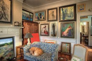 Allison Sprock Fine Art is in one of Charleston's most unique spaces on historic King Street