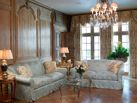 For the Living Room Mary Helen designed a beautiful French-paneled living  room by using Louis XIV Period doors and elements incorporated with newly  ...