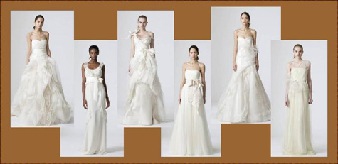 The complete Vera Wang Spring 2010 Bridal Collection will be featured in a Trunk Show at maddison row,