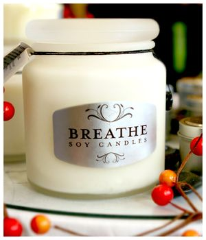 Breathe Soy Candles At Whispers on Wentworth Salon in Charleston's King Street Fashion District