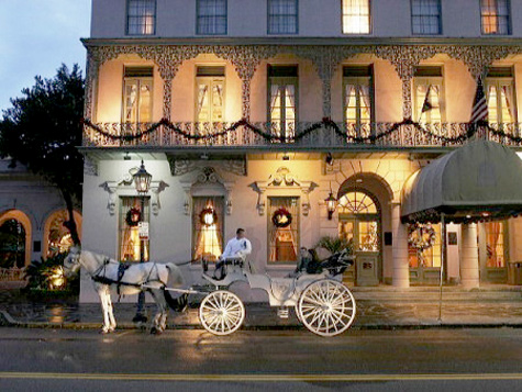 Mills House Night The In Historic Downtown Charleston