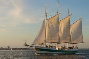 Charleston Harbor on the Schooner Pride