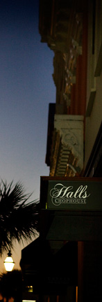 Halls Chophouse in the Evening