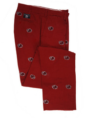 Pennington & Bailes Khakis - complete in USC's Garnet, Now only $108.00 at M. Dumas & sons in Charleston