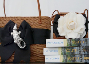 Only at Lily Charleston will you find the Bosom Buddy Alligator Bag and The Charleston Bag.