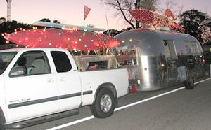 Jack's Cosmic Dogs Vintage AirStream Hot Dog Stand Wins Second Prize in Mt. Pleasant Christmas Parade