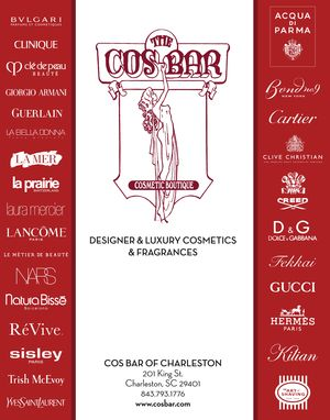 Cos Bar Charleston has all the latest luxury cosmetic lines