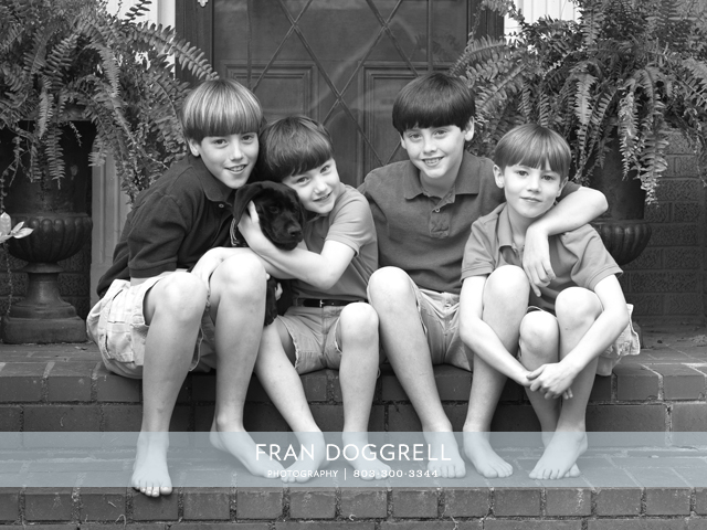 Fran Dogrell photo of the week: Four Boys. Beautiful portrait photography.