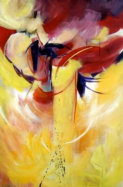 Dance at the Feathers painting by Denise Athanas Lowcountry Artist Gallery