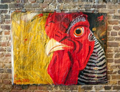 Rooster by Sybil Fix at La Fourchette