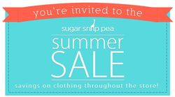 You're invited to the Sugar Snap Pea Summer Sale