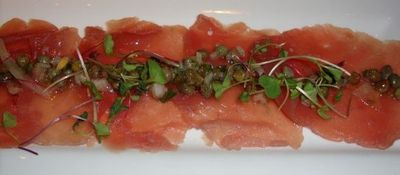 Tuna Carpaccio from Amen Street Fish and Raw Bar