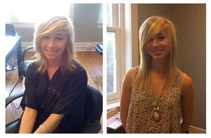 Great Lengths Hair Extension Before and After at Salon Couture in Charleston