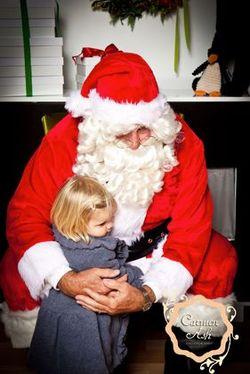 Santa Clause visits Sugar Snap Pea December 1st