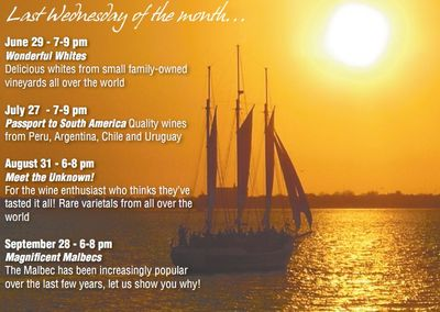 Stay tuned for future wine tasting cruises aboard the Schooner Pride!