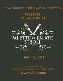 Palate and Palette Stroll on July 15th will showcase beautiful works of art and delicious local cuisine.