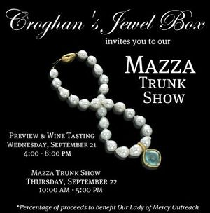 Come check out the Mazza trunk show this week at Croghan's Jewel Box!
