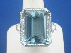 Joint Venture Estate Jewelers Featured Item of the Month Aquamarine Gemstone