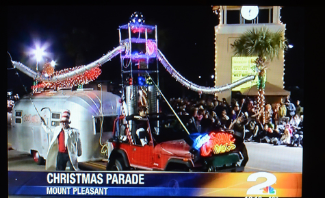 cosmic dog float big hit in mt pleasant christmas parade and featured on 1100 pm news - Mount Pleasant Christmas Parade