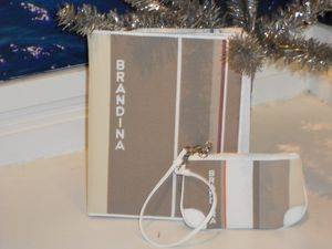 Bottega Brandina iPad case and wristlet