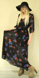 House of Sage has this Carnaby Sheer Maxi Dress from Mink Pink, a definite eye-catcher.