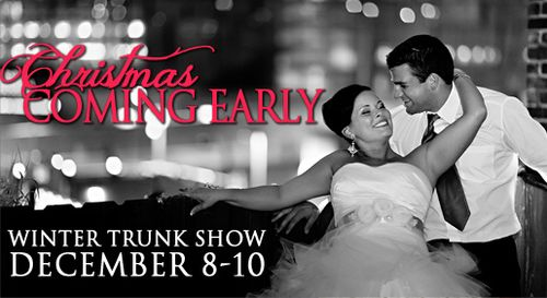 Winter Trunk Show at Modern Trousseau December 8th-10th
