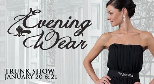 Evening Wear Trunk Show at Modern Trousseau January 20 and 21