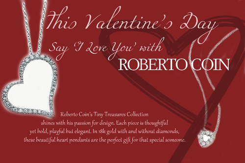 Valentine's Day Tiny Treasures Jewelry Collection at Roberto Coin Boutique