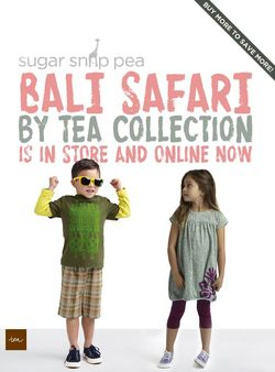 Bali Safari Collection from Tea now at Sugar Snap Pea