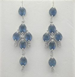 Joint Venture Sapphire Earrings