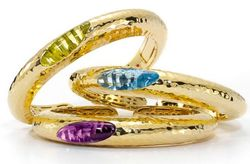 Roberto Coin Fifth Season Collection Gold Plated Bangles