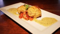 Crab Cake Appetizer at Amen Street Fish and Raw Bar