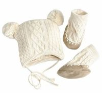 Egg Hat and Bootie Set from Sugar Snap Pea