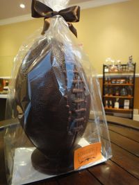 Chocolate football from Christophe Artisan Chocolatier