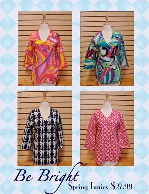 Spring Tunics at The Oops Co