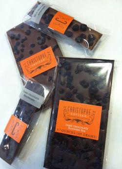 Dark Chocolate Blueberry Bars from Christophe Artisan Chocolatier