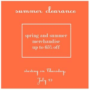 Rapport Spring and Summer Clearance Event