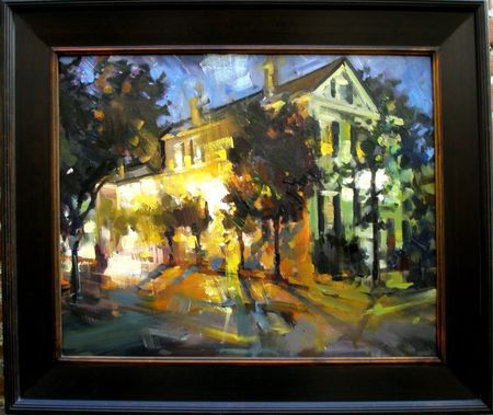 Queen Street Nocturne 2 painting by Rick Reinert