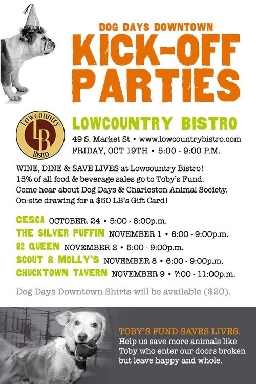 Dog Days Downtown Kick Off Party October 19th