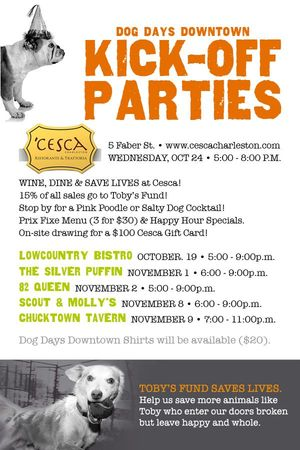 Dog Days Downtown Kick Off Party at Cesca