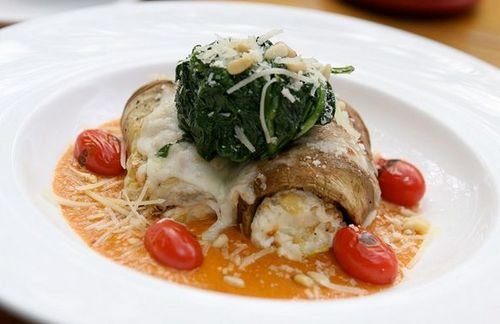 Eggplant Roulade at Leaf Cafe + Bar