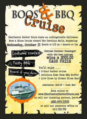 Boos and BBQ Cruise from Charleston Harbor Tours