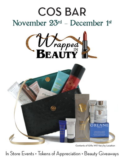 Cos Bar Wrapped in Beauty Event
