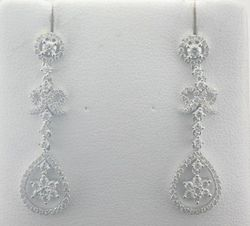 White Gold Diamond Earrings Joint Venture Estate Jewelers