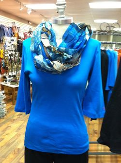 Prima Top in Blue at Affordables Apparel