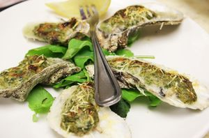 Baked Oysters at Amen Street Fish and Raw Bar